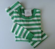 Hanna Andersson Organic Long Johns Pajamas Happy Green White 90 3t 3 9a8e9acaf