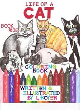 Cat Art Coloring Book By Creator Artist L Royer Autographed #10 New Release