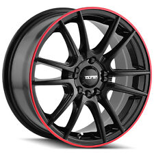 4-NEW Touren TR77 18x7.5 5x105/5x112 +40mm Black/Red Wheels Rims