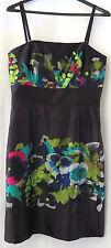 Suzi Chin Maggie Boutique Dress 10 Purple Multi Color Floral Silk Wedding Formal