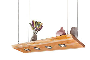 LED 60cm-150 cm Massivholz Decken Lampe Holz Lärche Smart Home