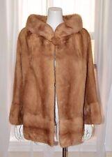 Vintage Genuine Natural Light Brown Mink Coat Jacket Medium M Bolero VTG Haze