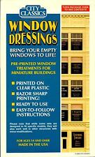 """City Classics-HO Scale -- #704 Window Signs 1940-50 era Signs for 3/8"""" -1"""" Wide"""