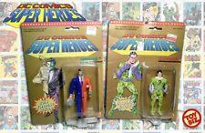 "DC Superheroes Two Face Harvey Dent & The Riddler ToyBiz 5"" MOC 1989 Clues Coin"