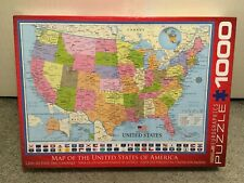 "Map of The United States of America 1000 Piece Puzzle 19"" x 26"" Eurographics"
