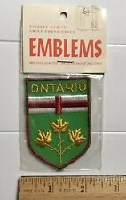 NIP Ontario Canada Provincial Coat of Arms Shield Canadian Travel Souvenir Patch