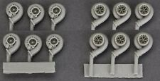 1/24 HOBBY DESIGN Style Turbos (6 Sets) PRESSURIZED RESIN