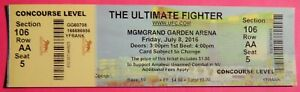 UFC ULTIMATE FIGHTER ORIGINAL USED TICKET MGM LAS VEGAS, JULY 8 2016