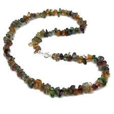 El Coral Collar de Cristal de roca multicolores copos de  7/12mm. Longitud 50cm.