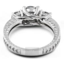 2 Karat F SI1 Rund Schliff Zertifiziert Diamanten 950 Pl. Klassisch Drei Steine