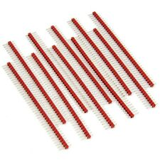 10pcs Male Header 1x40 2.54mm 40 Pin PCB Through Hole Arduino and Pi Red