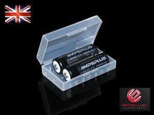 2x 18500 Battery 3.7V Li-ion 2000mAh 5A Genuine Ampsplus UK for LED Torch Light