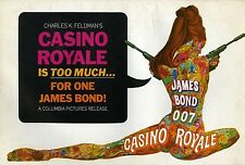 007 CASINO ROYALE 1967 + 2 Ad Supplements • P. Sellers • Unfolded, Uncut, VF