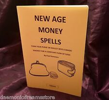 NEW AGE MONEY SPELLS Finbarr Grimoire Occult Magick Magic Witchcraft Wicca