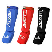 Shin Guards pads Instep MMA Muay Thai Kick Boxing Taekwondo Protector Training