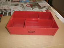 rare cette ancien Storage box de rangement rouge pour pièces LEGO (lot6)