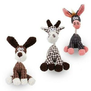 Pet Dog Chew Cute Donkey Toy Cotton Rope Soft Plush Play Sound Puppy Teeth Toys