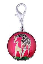 Giraffe Zipper Pull Charm, Bag Charm with Lobster Claw Clasp - Animal