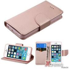 XM-For APPLE iPhone SE/5s/5 Rose Gold Pattern/Liner ID/Wallet Stand Case Pouch