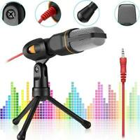 Professional Condenser Sound Podcast Studio Microphone For PC Laptop Game Skype*