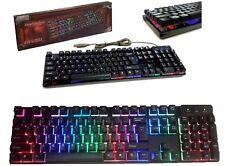 Tastiera da gioco a led retroilluminata RGB LED.Gaming keyboard pro gamer KR6300