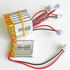 10 x 3.7V 300mAh Lipo Battery JST XH 2.5mm For MP3 GPS CAMERA smart watch 402530