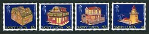 St. Lucia Complete MNH Set #949-952 Christmas 1989 Stamps