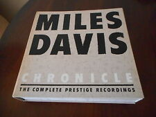 Miles Davis CHONICLE 12 LP BOX US PRESTIGE 1980 UNPLAYED Comme neuf Limited Edition
