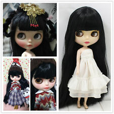 """12"""" Blythe Doll 7 Joints Body+Long Black Hair Neo Dolls for Make Up Collection"""