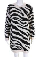 BB Dakota Womens Life Is Wild Sweater Dress Vanilla White Size Medium