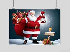 FATHER CHRISTMAS POSTER SANTA CLAUS WALL ART PRINT XMAS -A3 A4 SIZE