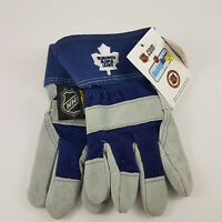 Toronto Maple Leafs Kid's Leather Garden Utility Work Gloves NHL NEW NWT