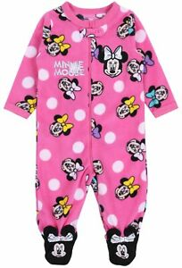 Fleece Pyjama Sleepsuit For Baby Girls MINNIE MOUSE DISNEY