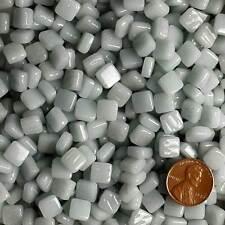 8mm Mosaic Glass Tiles - 2 Ounces About 87 Tiles - Light Gray