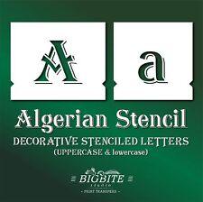 Letter STENCILS: Algerian Font FULL - lowercase & UPPERCASE Alphabet Set #073