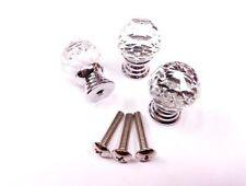 CraftbuddyUS One 20mm Sphere Door Knobs Crystal Clear + screw, drawer cabinet