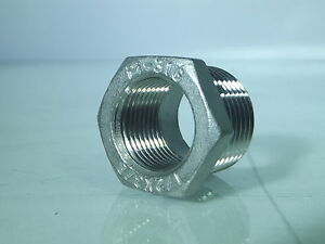 Stainless Steel 316, Male to Female Bsp Stainless Steel Reducing Bushes
