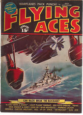 FLYING ACES Pulp Magazine January 1940 Schomburg Al McWilliams Dick Knight story