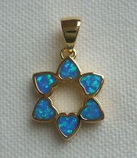 Jewish 18K Gold 2 Microns Star of David 6 Heart Shape Opals -BEAUTIFUL!
