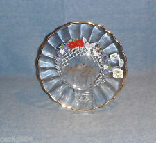40TH  ANNIVERSARY FENTON ART GLASS CRYSTAL PLATE NEW IN BOX