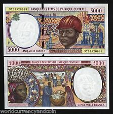 Central African States Chad 5000 Francs P604P 1997 Ship Unc Currency Money Note