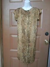 NWT NEW TORY BURCH DRESS SMALL SAWYER DRESS KHAKI SNAKE $375