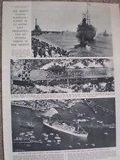 Photo article Queen Elizabeth at Fremantle end of Australia tour 1954 ref O54