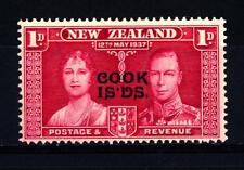 COOK ISLANDS - ISOLE COOK - 1937 - Francobolli della Nuova Zelanda del 1937