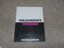 New listing Williamson Wonders Book Kaufman 1st ed