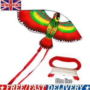 NEW Kites For Kids Children Lovely Cartoon Red Parrot Kites With Flying Line