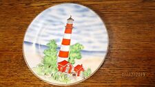 Royal Norfolk Lighthouse Plate Keepers House Red White 7 1/2 In