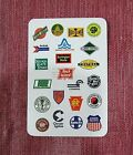Vintage 1980's 22 Railroad Logos Railway Ace Spades Playing Card FREE S/H