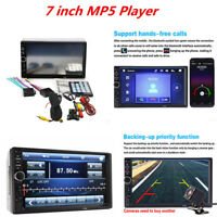"""Car MP5 MP3 Player 7"""" Double 2DIN HD Bluetooth Touch Screen Stereo Radio Camera"""