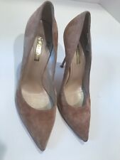 $780 CASADEI Size 11 High Heel Dusty Pink Suede Shoes Pumps Pre-owned